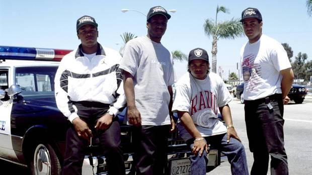 Die Hip-Hop-Gruppe N.W.A.
