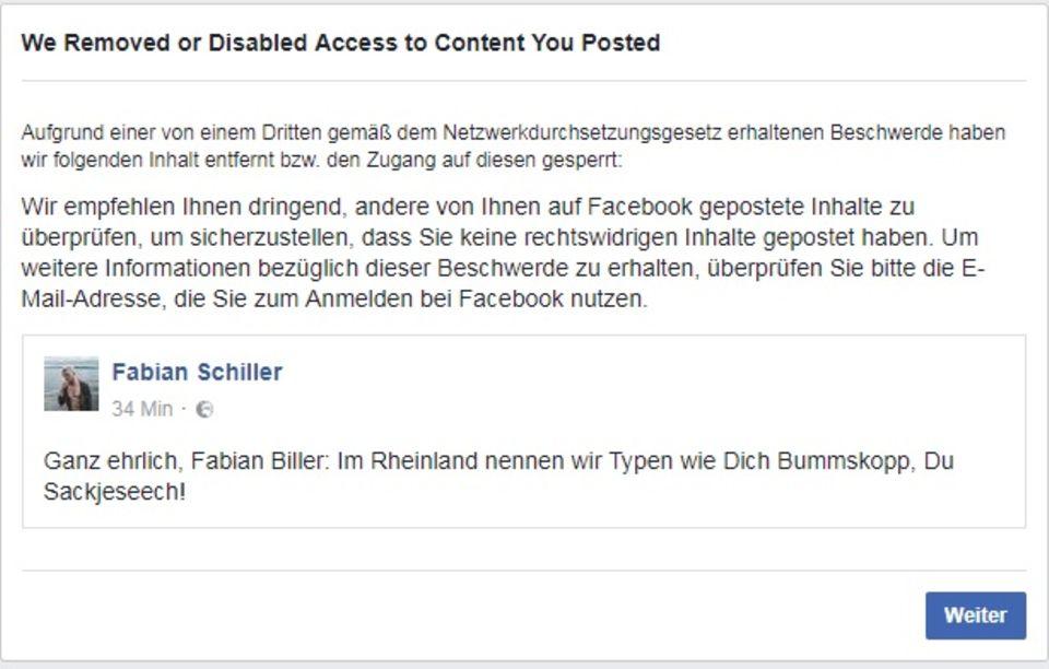 NetzDG im Selbstversuch: Wir haben uns bei Facebook und Twitter beschimpft: Was gesperrt wurde - und was nicht
