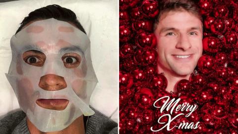 Thomas Müller und Christiano Ronaldo auf Instagram