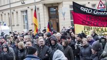 Reichsbürger auf einer Demo