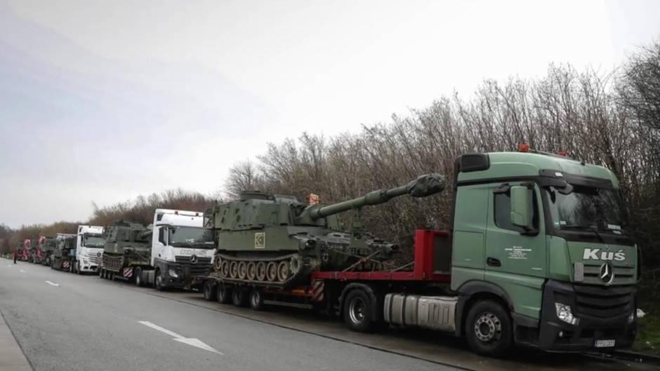 Konvoi aus Polen: Polizei stoppt Chaos-Panzertransport in Bautzen