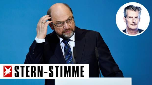 """Martin Schulz nennt die Ergebnisse der Sondierungen """"hervorragend"""". Doch einen dicken Fisch konnte er nicht an Land ziehen."""