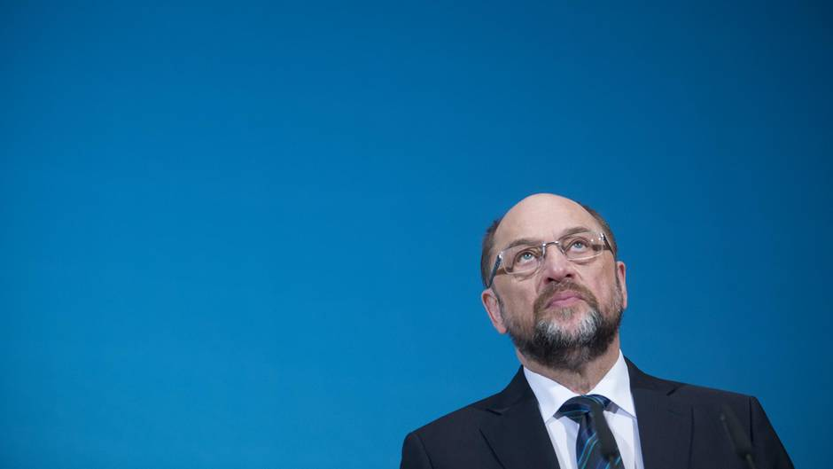 SPD-Chef Martin Schulz nach den Sondierungsgesprächen