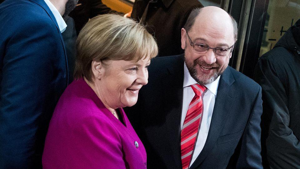 GroKo Angela Merkel Martin Schulz