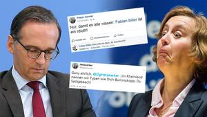 Heiko Maas, Alice Weidel, Twitter- und Facebook-Screenshots zum NetDG