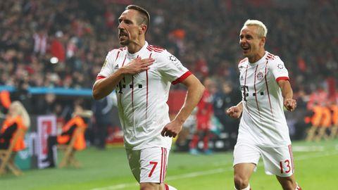 Franck Ribery nach seinem Treffer zum zwischenzeitlichen 2:0 beim Auftakt der Bundesliga-Rückrunde des FC Bayern