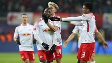 RB Leipzig gewinnt in der Bundesliga gegen den FC Schalke 04