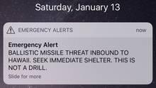 Diese Push-Nachricht versetzte die Bewohner Hawaiis in Panik