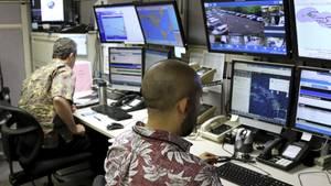 Ein Blick in das Kommandozentrum der hawaiiansichen Katastrophenschutzbehörde (Archivbild)