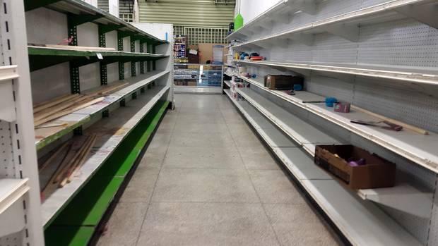 Leerer Supermarkt in Venezuela
