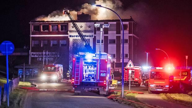 nachrichten deutschland - hotelfeuer husum