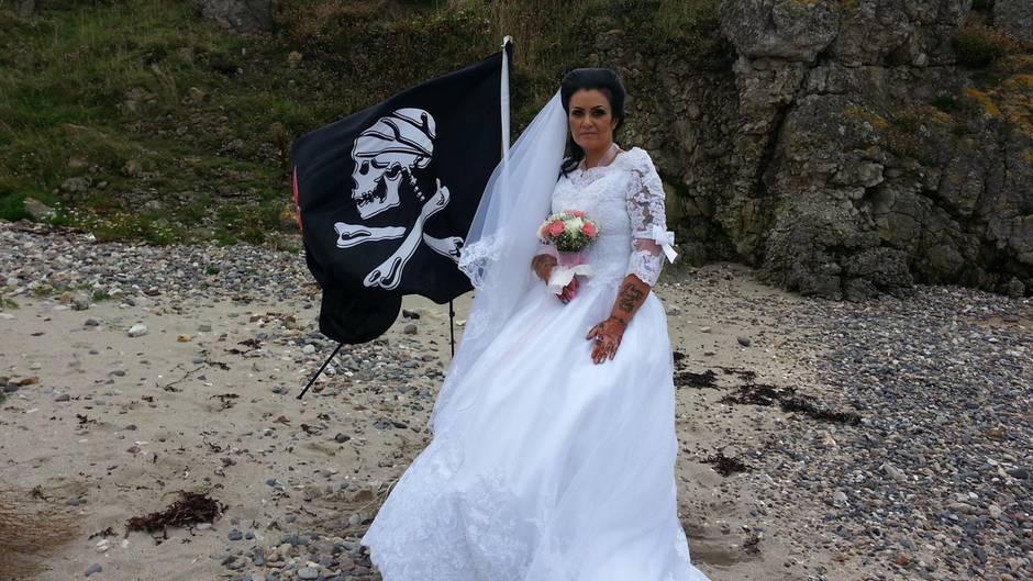 Amanda Teague an ihrem Hochzeitstag