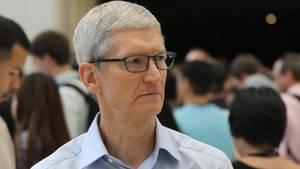 Apple-Chef Tim Cook bei der Vorstellung des Homepods