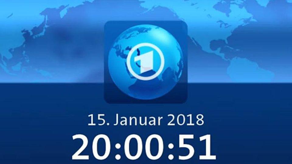Die Uhr vor Beginn der 20 Uhr Tagesschau zeigt 20:00:51