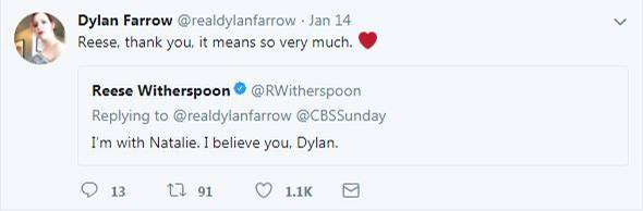 Dylan Farrow Reese Witherspoon