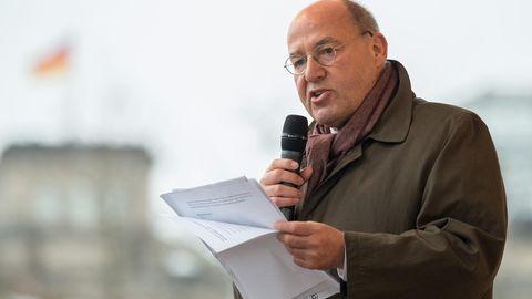 Gregor Gysi bei einer Rede in Berlin