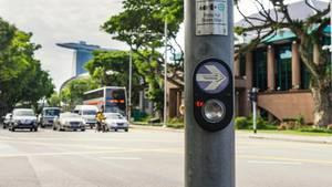Straßenkreuzung in Singapur
