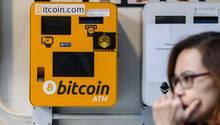 Ein Bitcoin-Automat in Hong Kong
