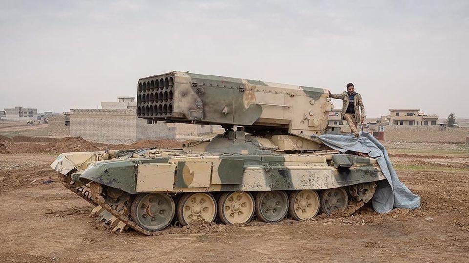 Der TOS1-A wurde auch an syrische Truppen übergeben.