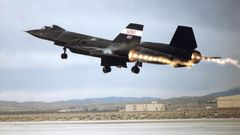 Start der SR-71 mit Nachbrenner.