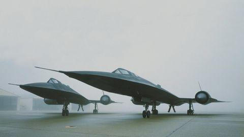 Der Ruhm der SR-71 basierte auch auf dem revolutionären Design und der schwarze Färbung.