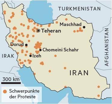 Anders als bei früheren Aufständen demonstrieren die Menschen heute vor allem in der Provinz. Ausgangspunkt der Proteste war Maschhad