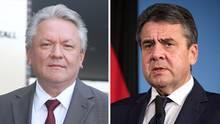 Armin Papperger und Sigmar Gabriel