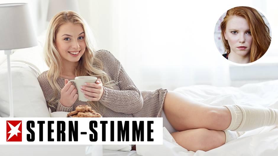 Strick kann sehr sexy sein, wenn jemand zum Kuscheln ins Haus kommt.