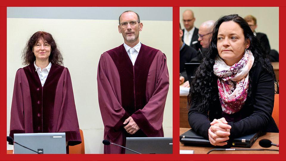Der Prozess: Seit dem 6. Mai 2013 wird vor dem Oberlandesgericht München verhandelt. Oberstaatsanwältin Anette Greger, hier neben ihrem Kollegen Jochen Weingarten, ist zuständig für die Hauptangeklagte Beate Zschäpe (r.)