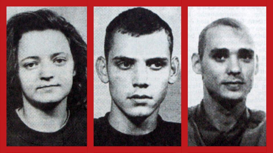 Das NSU-Trio: Für die Bundesanwaltschaft steht fest, dass die Terrorgruppe aus Beate Zschäpe, Uwe Böhnhardt und Uwe Mundlos (v. l.) bestand