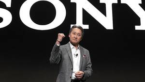 Sony-Chef Kazuo Hirai auf der Technikmesse CES in Las Vegas