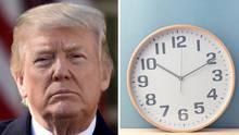 Das Ziffernblatt einer Uhr