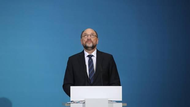 Was kommt da auf die SPD zu? Parteichef Martin Schulz bei der Präsentation der Sondierungsergebnisse am vergangenen Freitag