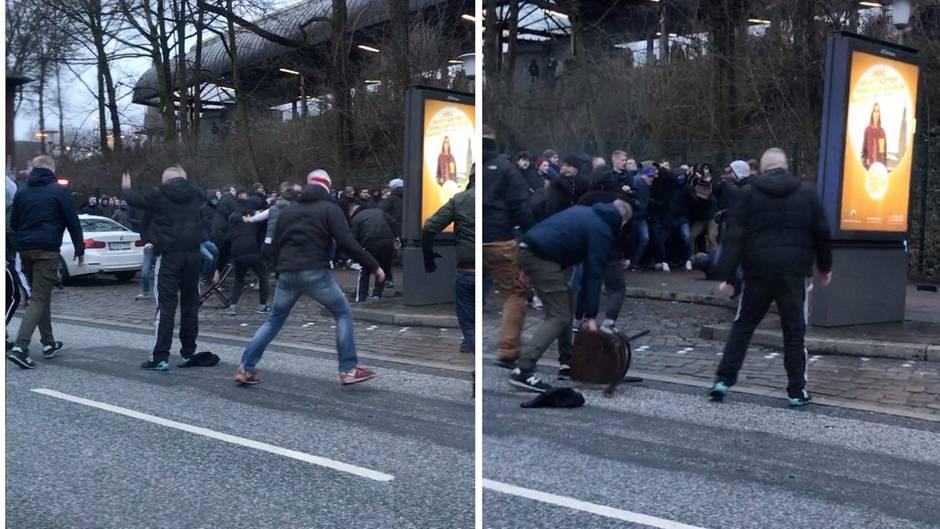 """Massenschlägerei: """"Ein ganz normaler Einsatz""""? – 70 Fußballfans vermöbeln sich mitten in Hamburg"""