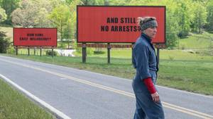 "Frances McDormand in ""Three Billboards Outside Ebbing, Missouri"""