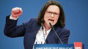 Andrea Nahles auf dem SPD-Parteitag in Bonn