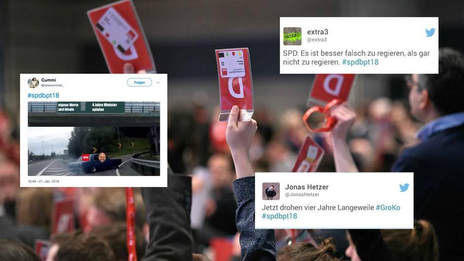 """Twitter-Reaktionen: SPD stimmt Koalitionsverhandlungen zu - """"Jetzt drohen vier Jahre Langeweile"""""""