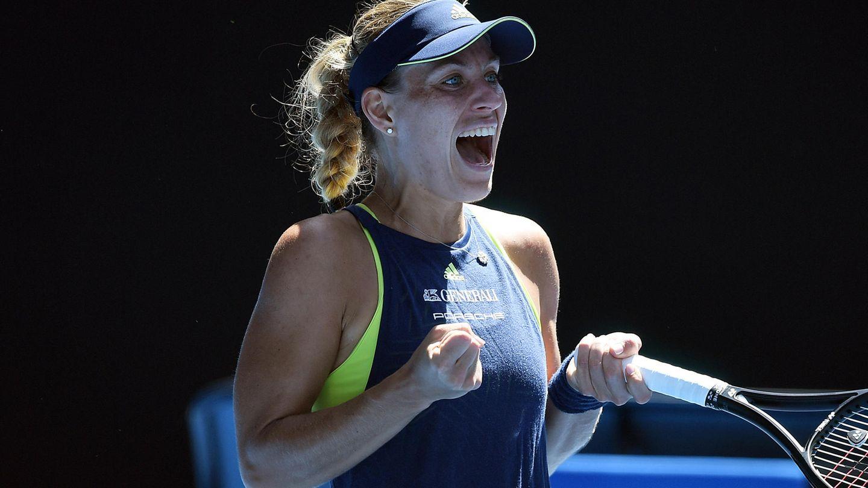Angelique Kerber jubelt über ihren Sieg im Viertelfinale der Australian Open