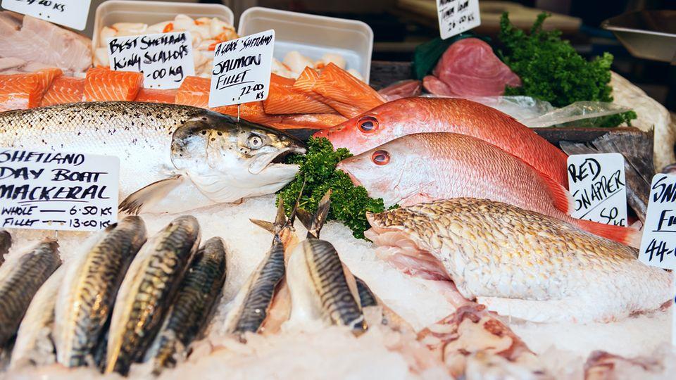 Auf dem Markt wird oft Zuchtfisch statt Wildfisch angeboten