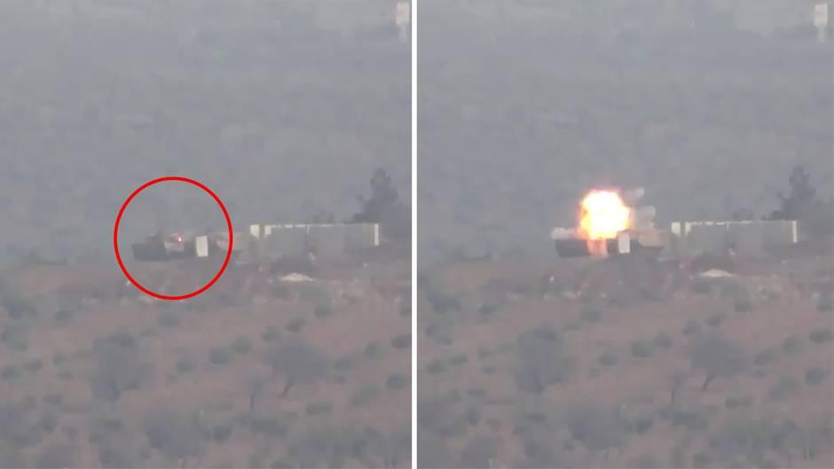 Syrien: Leopard-Panzer überlebt Raketentreffer