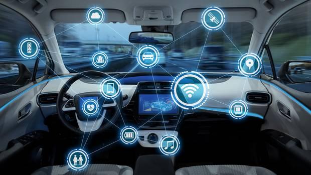 Visualisierung eines Smart Cockpits – eCall bekommt Zugriff auf alle Informationen des Fahrzeugs