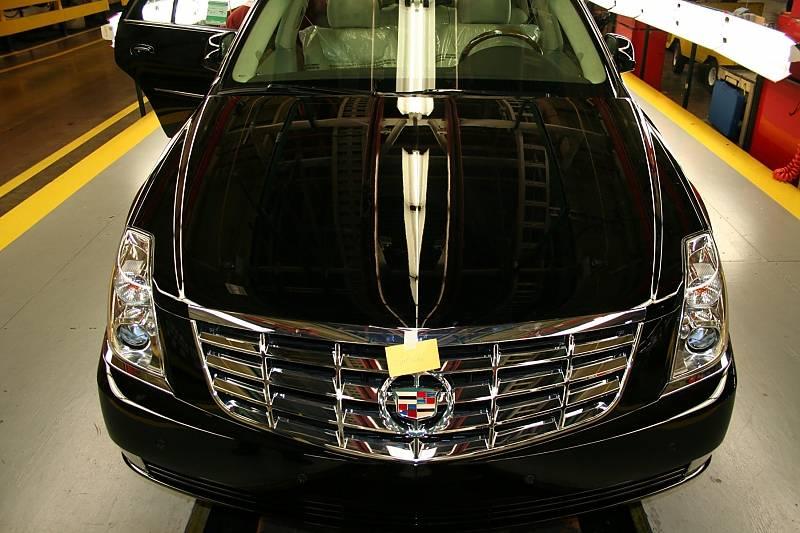 George W. Bush setzte auf die gepanzerte Langversion des Cadillac DTS