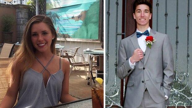 Das neue Tinder-Paar Hayden und Cluadia auf einem Bild.