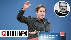 Juso-Chef Kevin Kühnert auf dem SPD-Parteitag