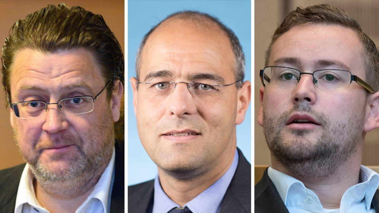 Die AfD-Bundestagsabgeordneten Stephan Brandner, Peter Boehringer, und Sebastian Münzenmaier