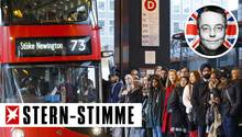Warten, stehen, freundlich sein: Schlangestehen macht in Großbritannien nur wenigen etwas aus