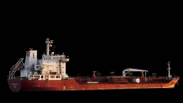 """Die """"Marida Marguerite"""" ist mit ihren fast 130 Meter Länge ein eher kleiner Tanker auf den Weltmeeren"""