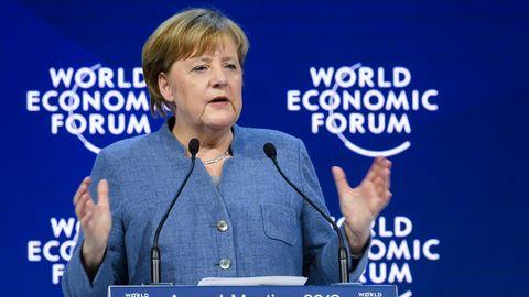 Angela Merkel auf dem Weltwirtschaftsforum in Davos