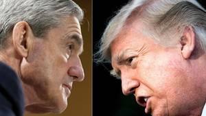 Der unabhängige Sonderermittler Robert Mueller (l.) und US-Präsident Donald Trump