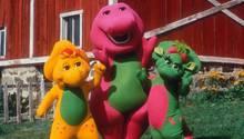 Barney der Dinosaurier mit BJ und Baby Bop
